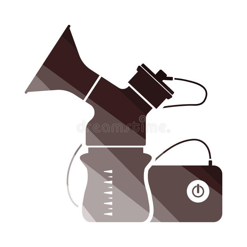 Icono eléctrico de la bomba de lactancia stock de ilustración