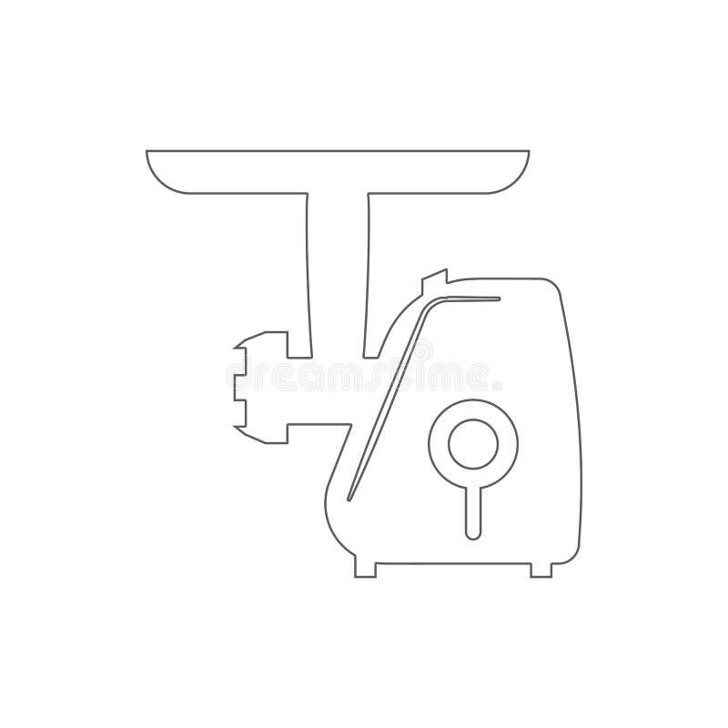 icono eléctrico de la máquina para picar carne Elemento de la seguridad cibernética para el concepto y el icono móviles de los ap stock de ilustración