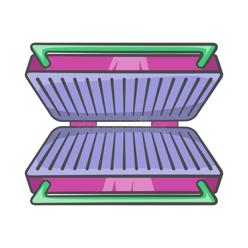 Icono eléctrico de la parrilla, estilo de la historieta stock de ilustración