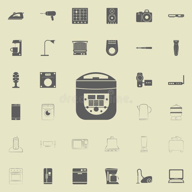 icono eléctrico del fabricante de pan Sistema universal de los electro iconos para el web y el móvil ilustración del vector
