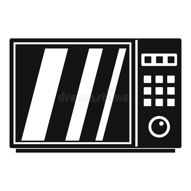 Icono eléctrico del horno de microondas, estilo simple ilustración del vector