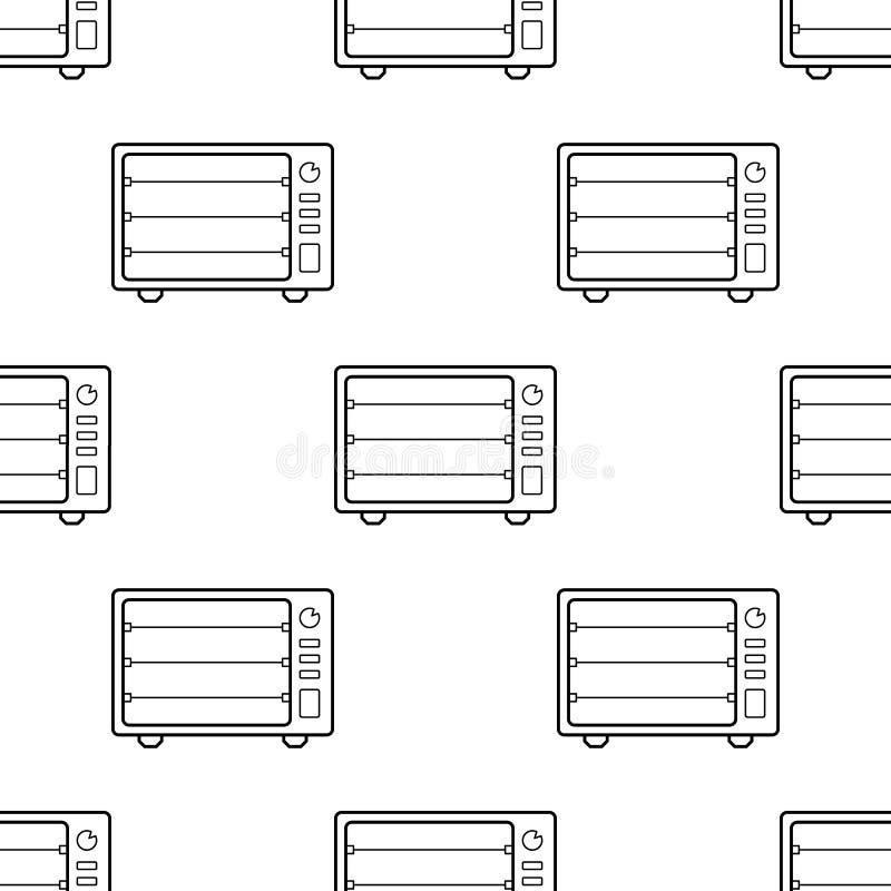 Icono eléctrico del horno Elemento del icono de los dispositivos para los apps móviles del concepto y del web Icono eléctrico inc stock de ilustración