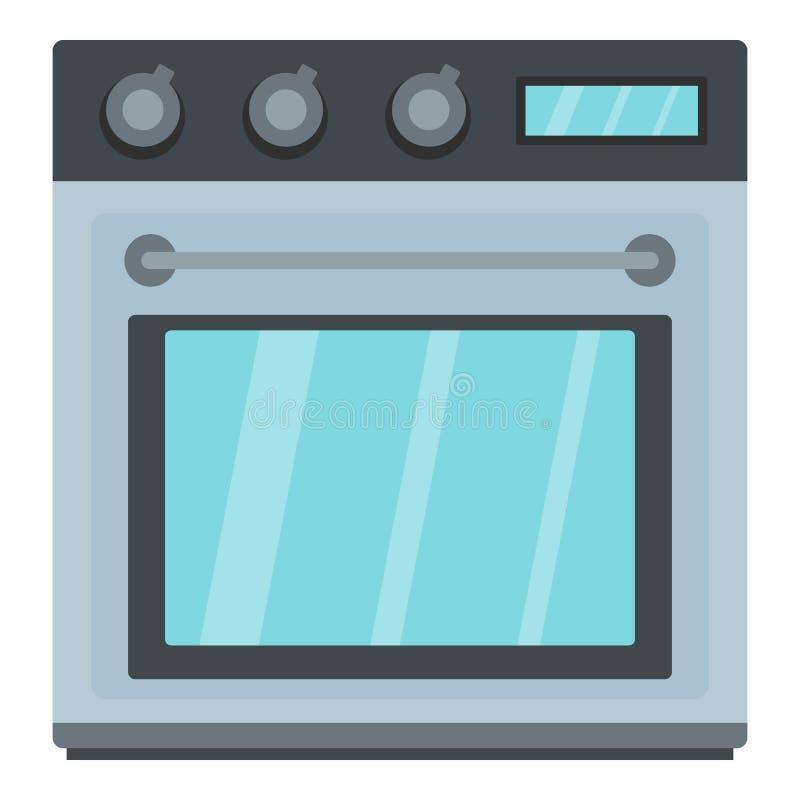 Icono eléctrico del horno, estilo de la historieta ilustración del vector