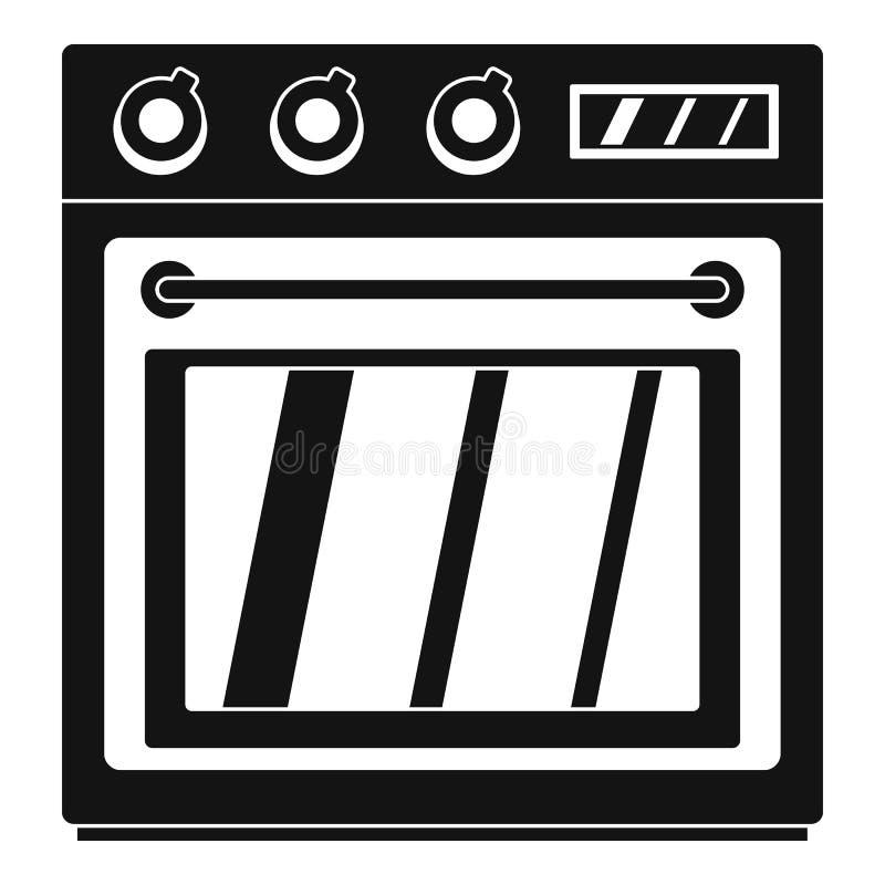 Icono eléctrico del horno, estilo simple stock de ilustración