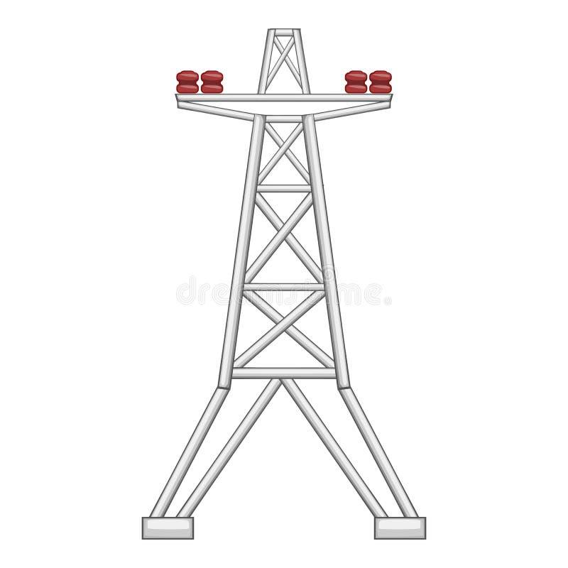 Icono eléctrico del polo, estilo plano ilustración del vector