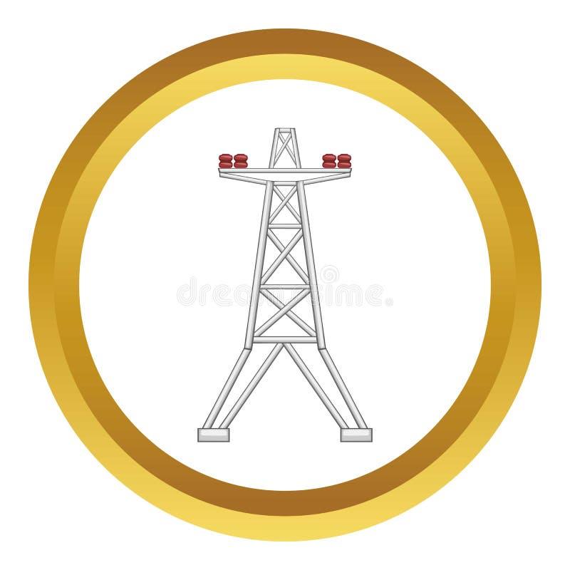 Icono eléctrico del vector del polo libre illustration