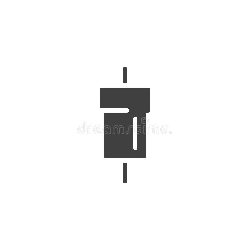 Icono eléctrico del vector del resistor stock de ilustración