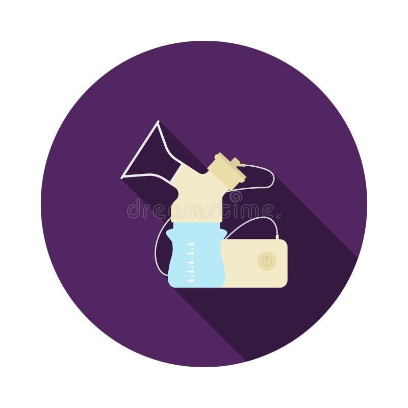 Icono el?ctrico de la bomba de lactancia ilustración del vector