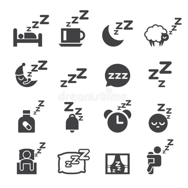 Icono el dormir ilustración del vector