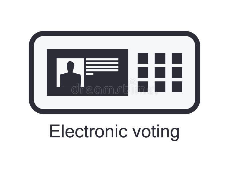 Icono electrónico de la urna aislado en el fondo blanco Votación electrónica Vector stock de ilustración