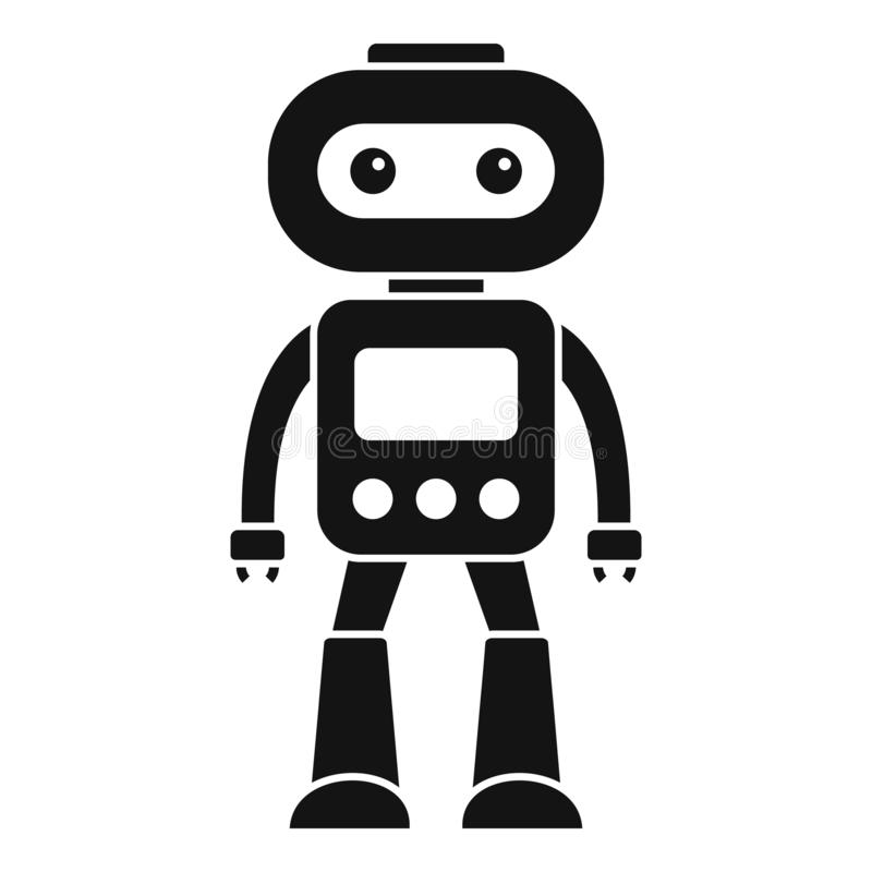 Icono electrónico del robot, estilo simple ilustración del vector