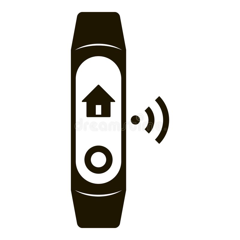 Icono elegante de la banda de la casa, estilo simple stock de ilustración