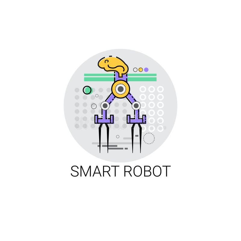 Icono elegante de la producción de la industria de la automatización industrial de la maquinaria del robot libre illustration