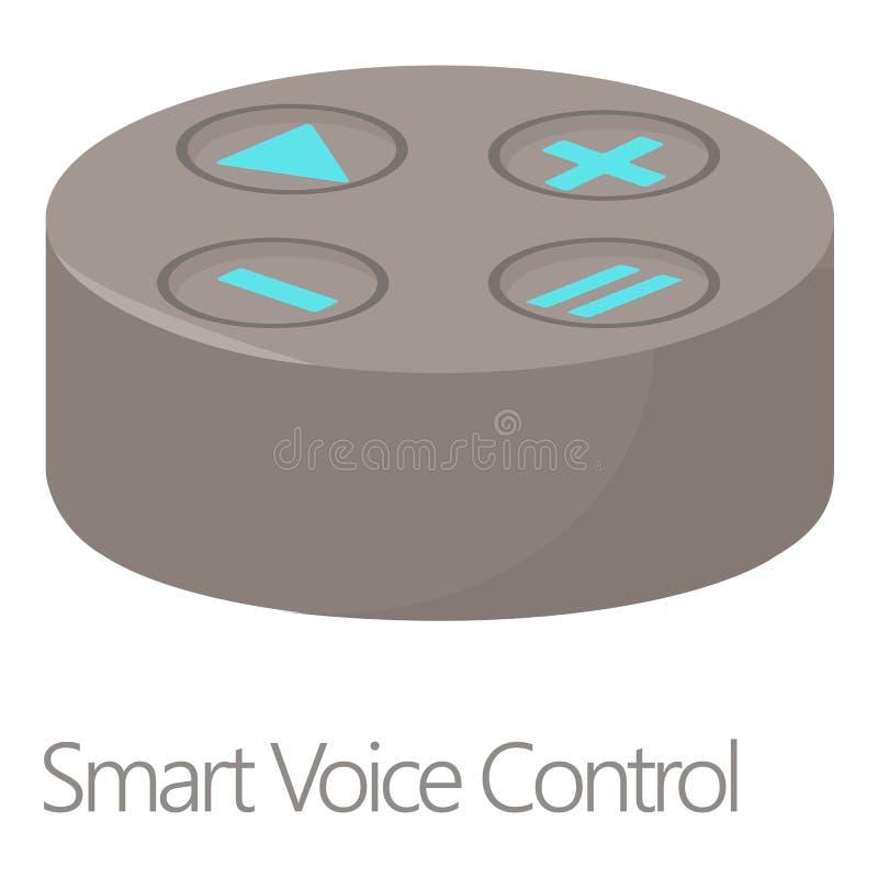Icono elegante del control de la voz, estilo de la historieta ilustración del vector