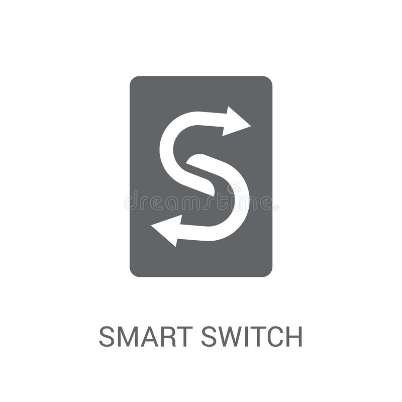icono elegante del interruptor  stock de ilustración