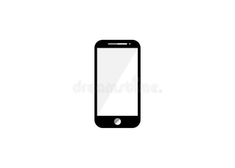Icono elegante del teléfono Elementos de noticias y del medios icono que fluye Diseño gráfico de la calidad superior stock de ilustración