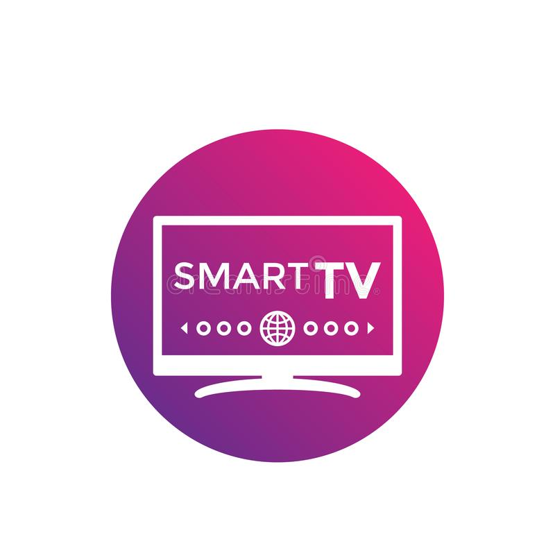 Icono elegante del vector de la TV stock de ilustración
