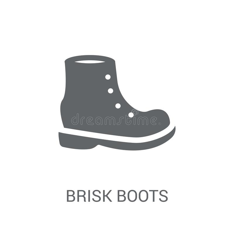 icono enérgico de las botas  stock de ilustración