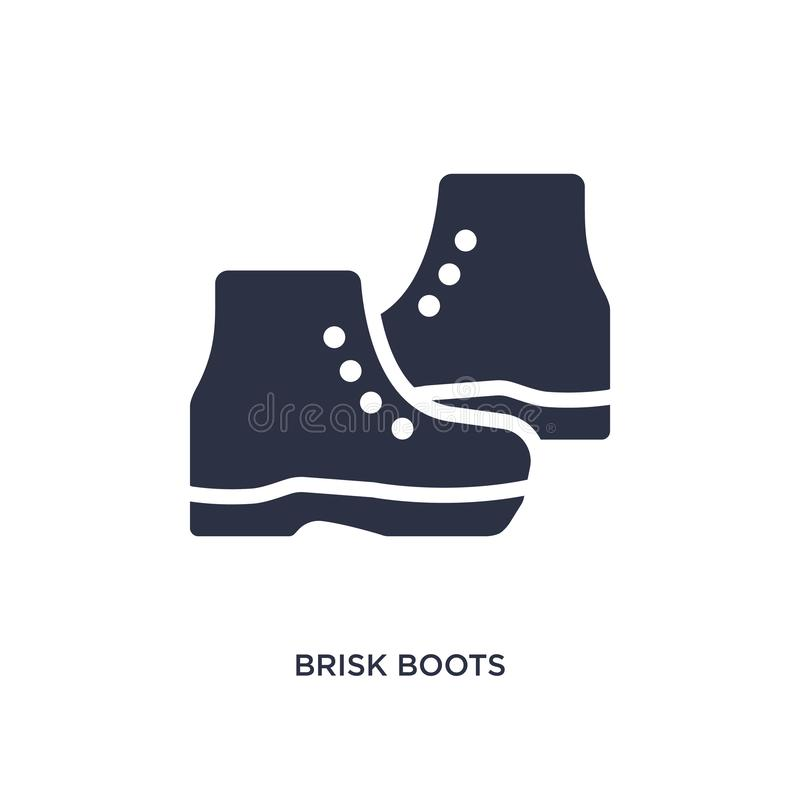 icono enérgico de las botas en el fondo blanco Ejemplo simple del elemento del concepto de la ropa ilustración del vector