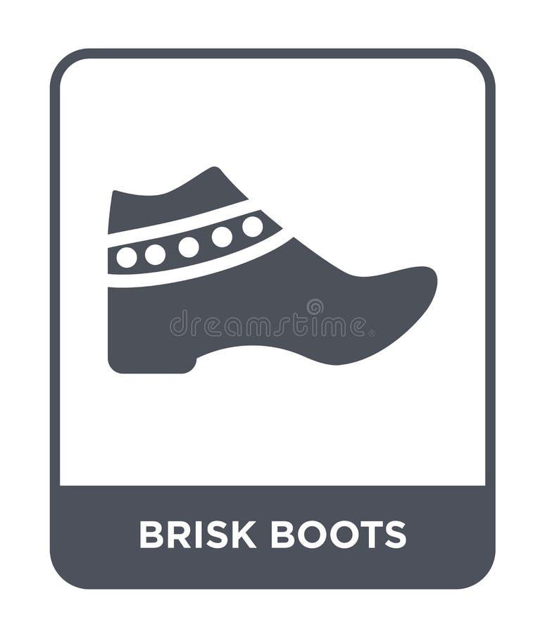 icono enérgico de las botas en estilo de moda del diseño icono enérgico de las botas aislado en el fondo blanco icono enérgico de libre illustration