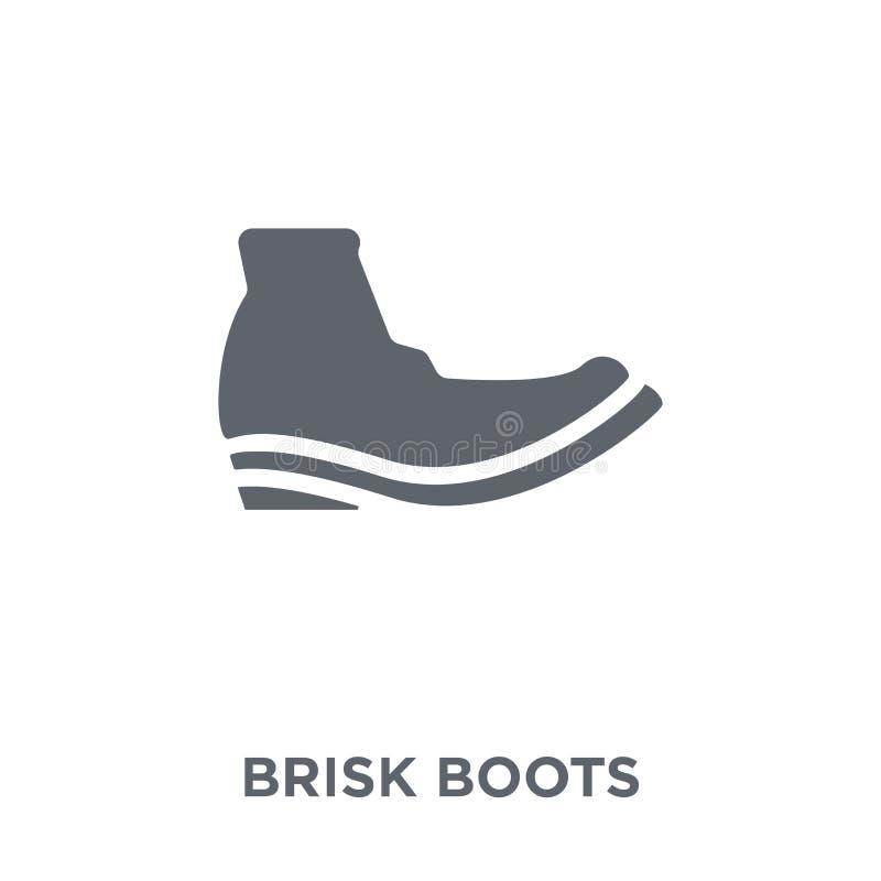 icono enérgico de las botas de la colección enérgica de las botas libre illustration
