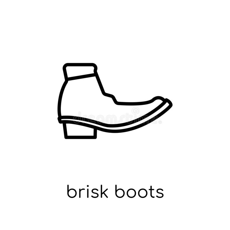 icono enérgico de las botas de la colección enérgica de las botas stock de ilustración