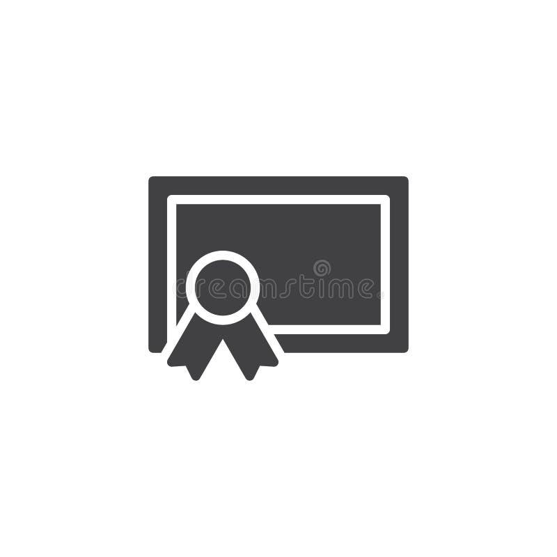 Icono en blanco del vector del certificado libre illustration