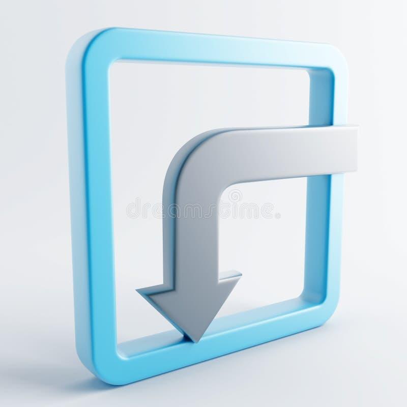 Icono en color gris-azul libre illustration