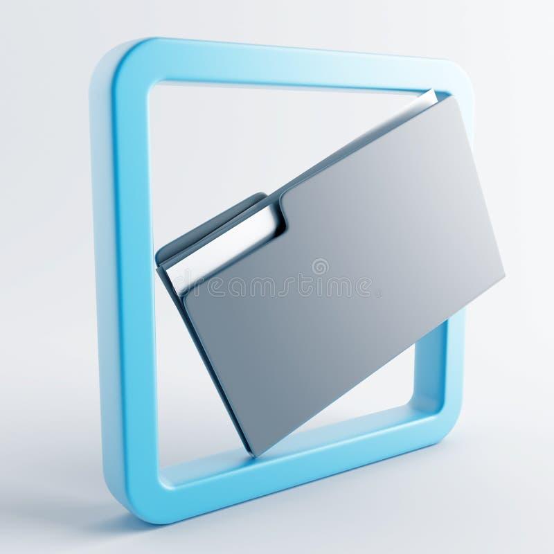 Icono en color gris-azul ilustración del vector