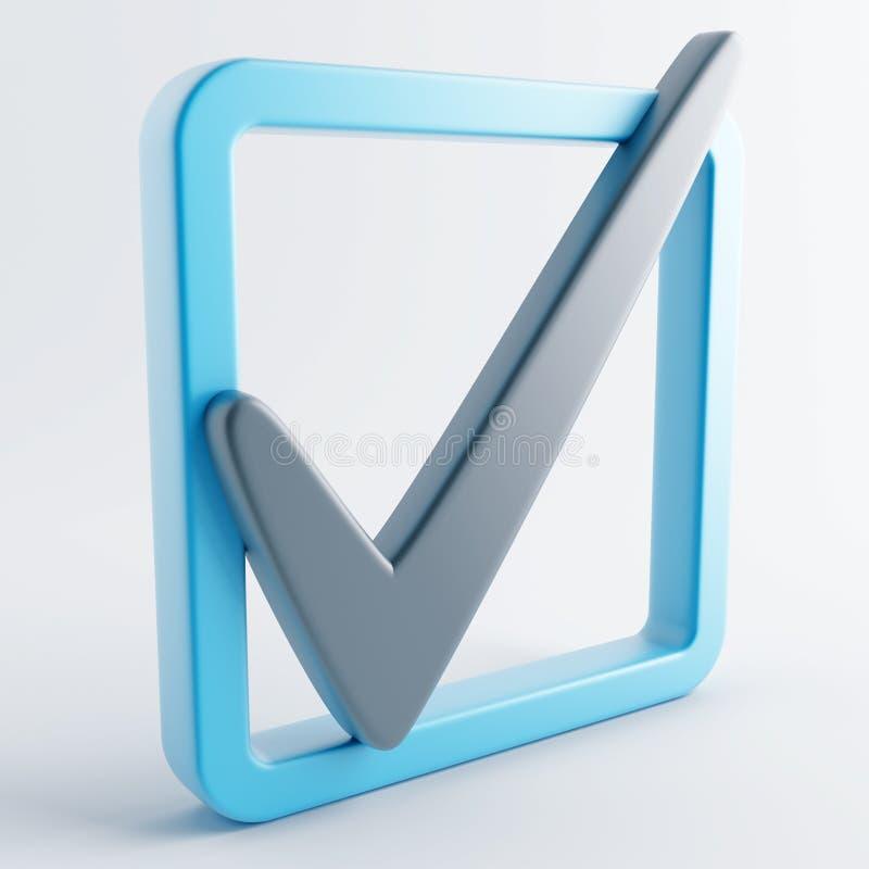 Icono en color gris-azul stock de ilustración