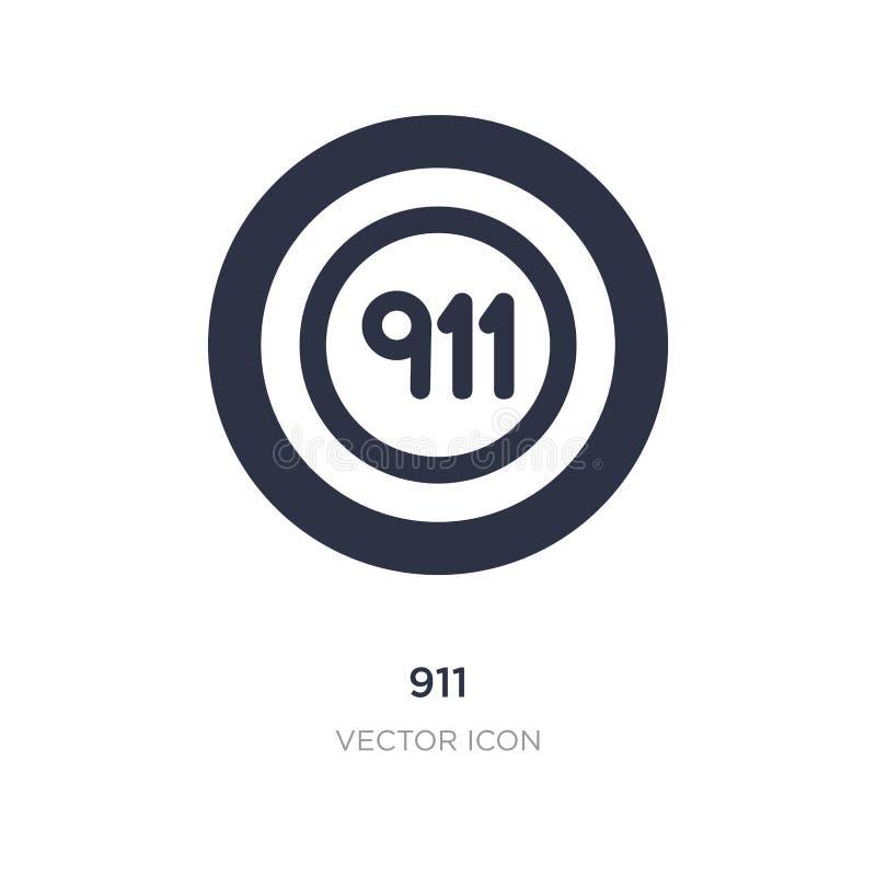 icono 911 en el fondo blanco Ejemplo simple del elemento del concepto alerta stock de ilustración