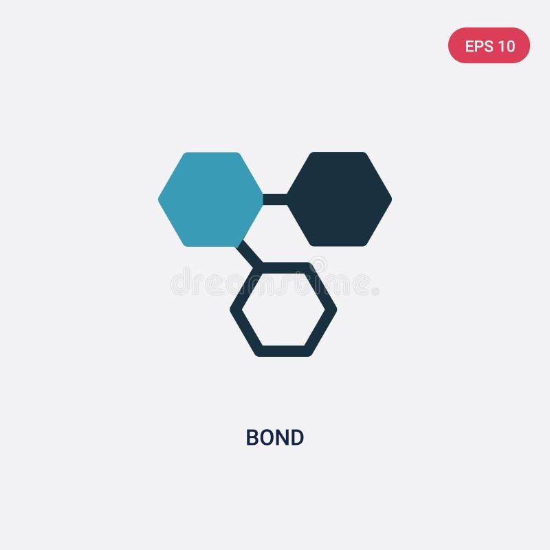 Icono en enlace bicolor del vector del concepto de la ciencia el símbolo en enlace azul aislado de la muestra del vector puede se ilustración del vector