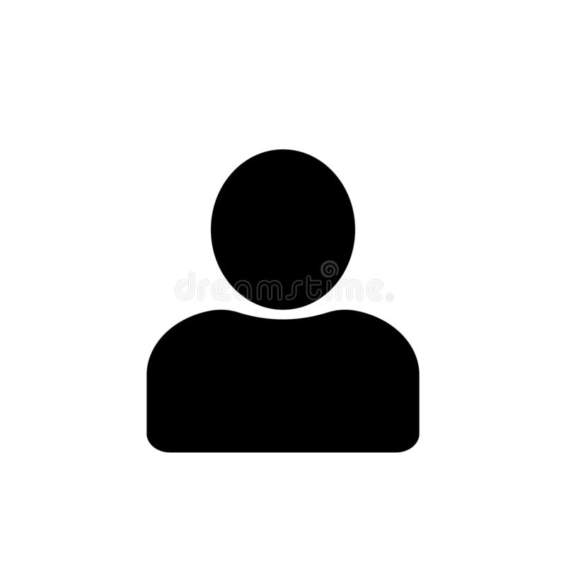 Icono en estilo plano, persona del usuario para el ejemplo del vector del sitio web ilustración del vector