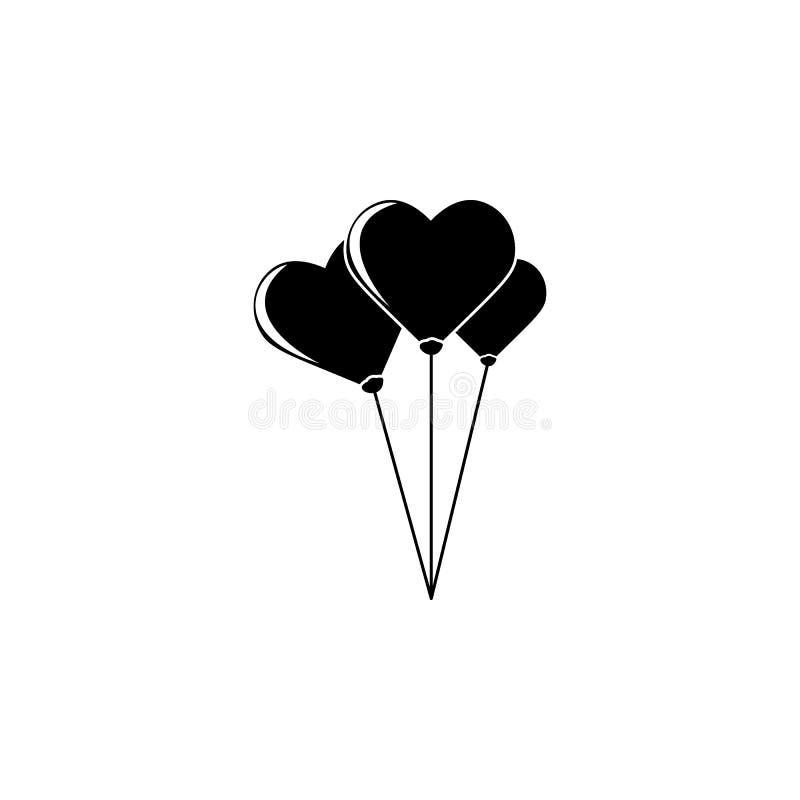 icono en forma de corazón de las bolas Elemento del día de la madre para los apps móviles del concepto y del web El icono en form stock de ilustración