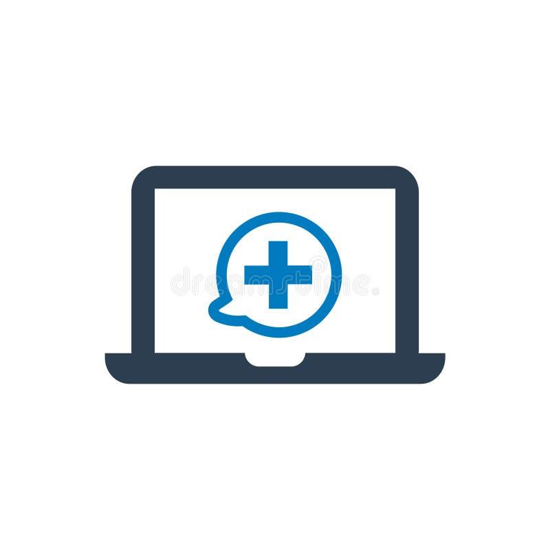 Icono en línea de la atención sanitaria libre illustration