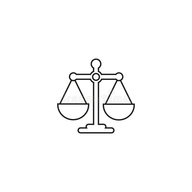 Icono en línea de la balanza de las escalas stock de ilustración