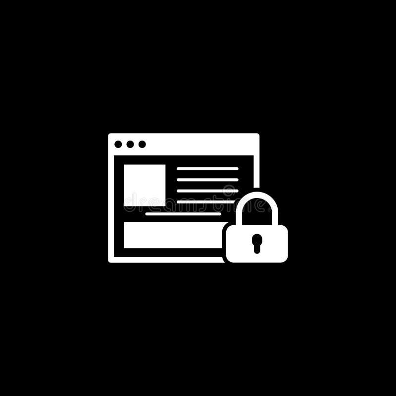 Icono en línea de la seguridad Diseño plano ilustración del vector