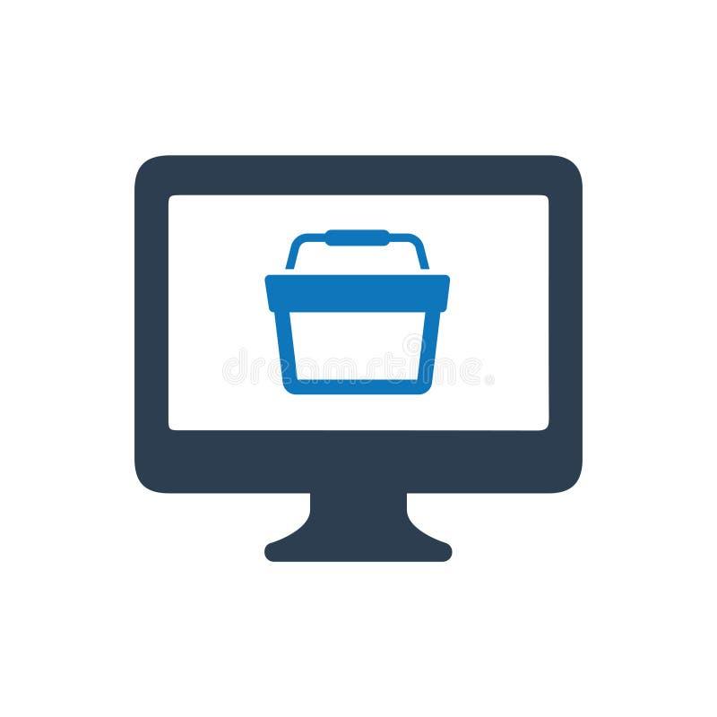 Icono en línea de las compras libre illustration