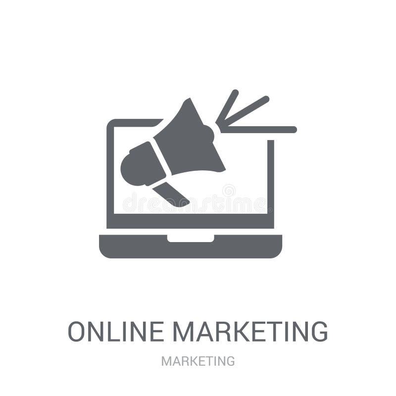 icono en línea del márketing  ilustración del vector