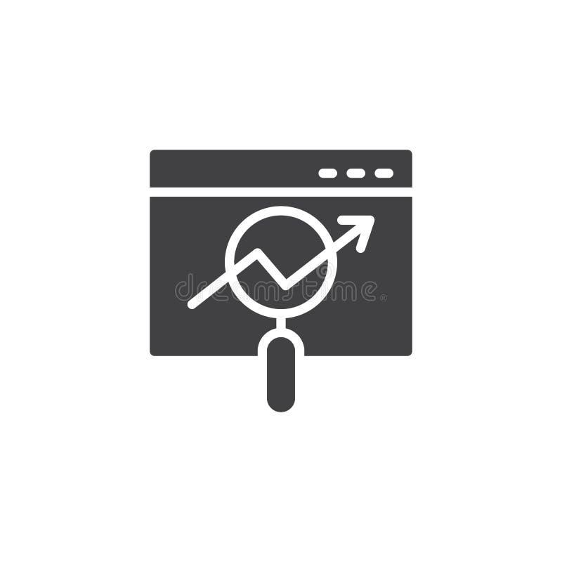 Icono en línea del vector del analytics libre illustration