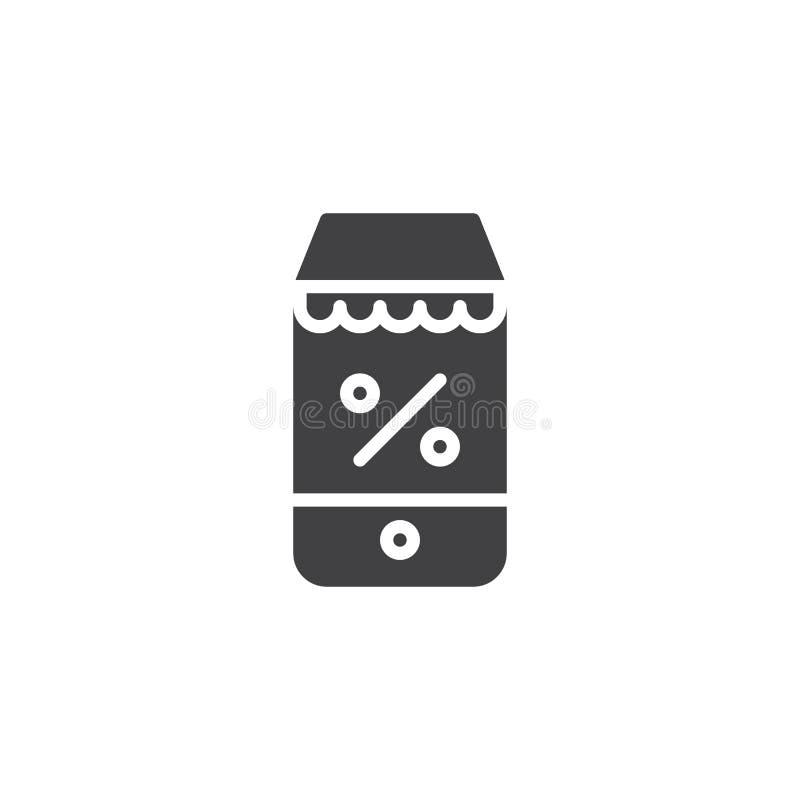 Icono en línea del vector del discount libre illustration
