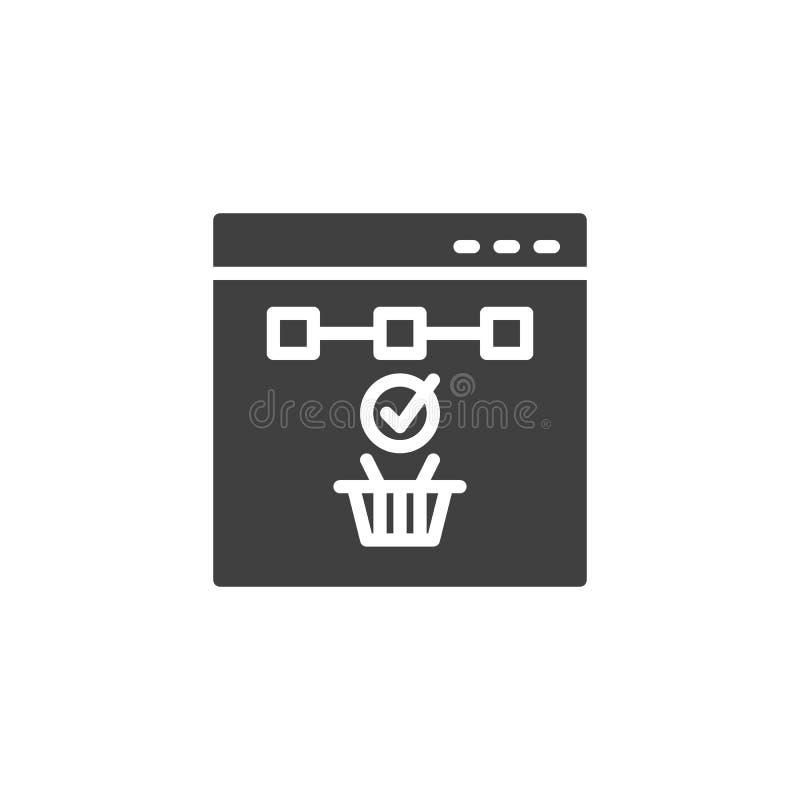 Icono en l?nea del vector de las compras ilustración del vector