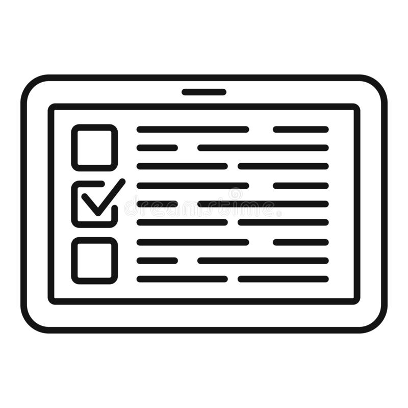 Icono en l?nea del voto, estilo del esquema libre illustration