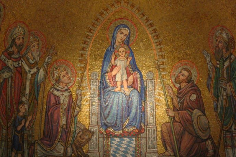 Icono en la abadía de Dormition fotografía de archivo