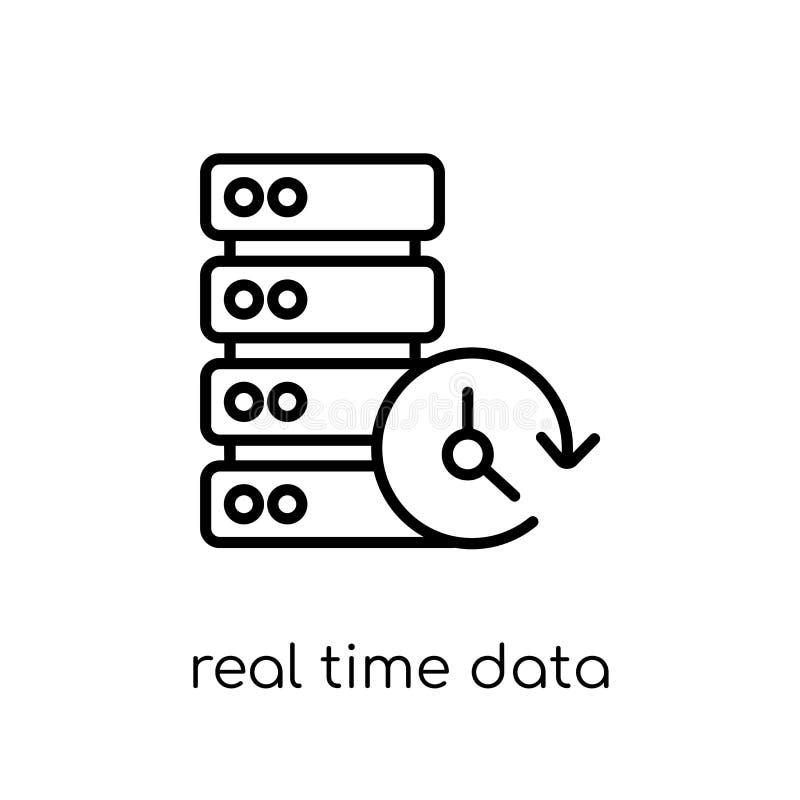 icono en tiempo real de los datos Tiempo real linear plano moderno de moda del vector ilustración del vector