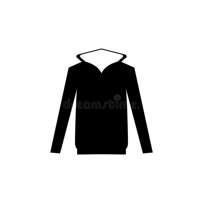 Icono encapuchado del suéter libre illustration