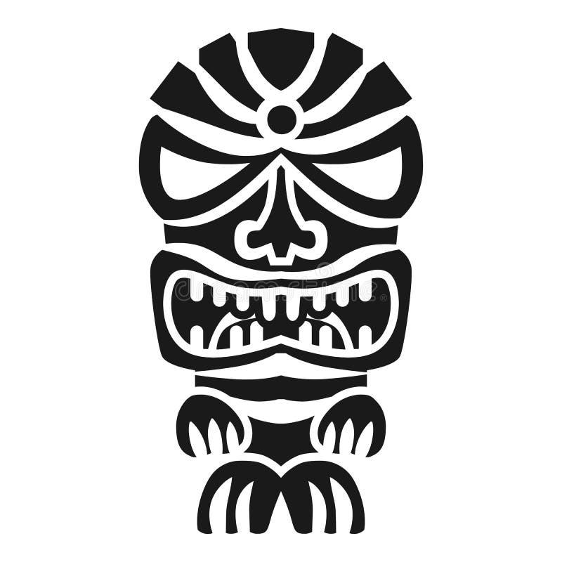 Icono enojado del ídolo, estilo simple stock de ilustración