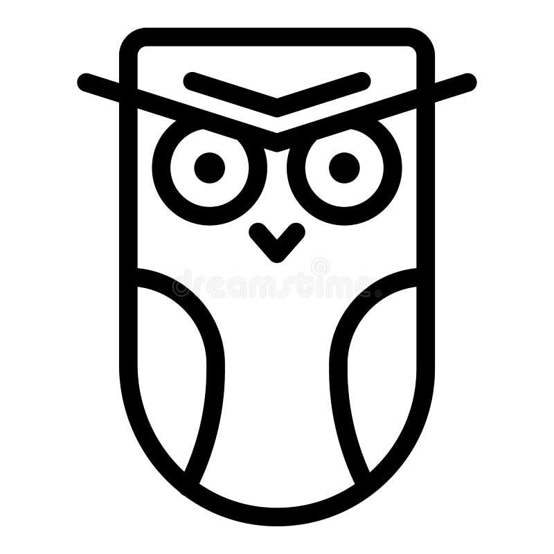 Icono enojado del búho, estilo del esquema libre illustration