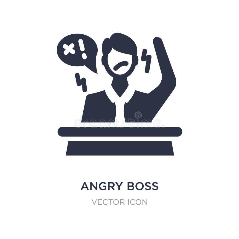 icono enojado del jefe en el fondo blanco Ejemplo simple del elemento del concepto del negocio libre illustration