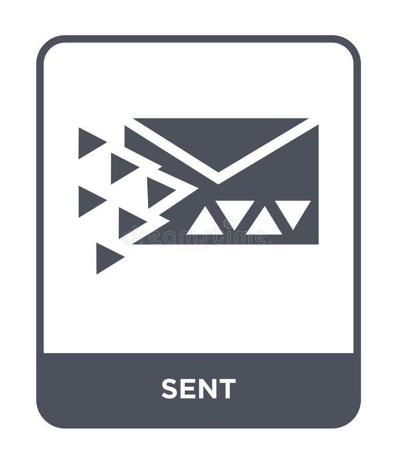 icono enviado en estilo de moda del diseño icono enviado aislado en el fondo blanco símbolo plano simple y moderno del icono envi ilustración del vector